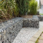 Obstacle en gabion